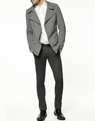 e23248a4e1770 Moda para Hombres › Moda para hombres de 30 años Look de moda  Chaquetón  gris