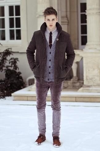 Chaquetón en marrón oscuro de Marc Jacobs