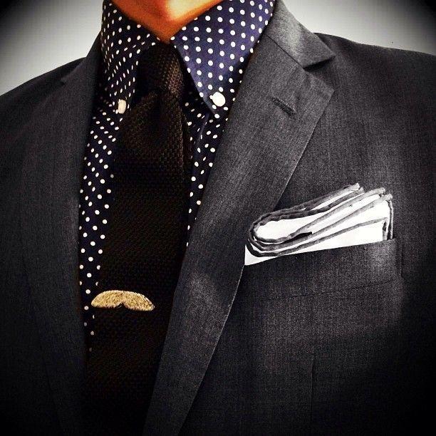How to Wear a Blue Polka Dot Dress Shirt (5 looks) | Men's Fashion