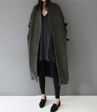 Wool Coat With Removable Faux Fur Collar