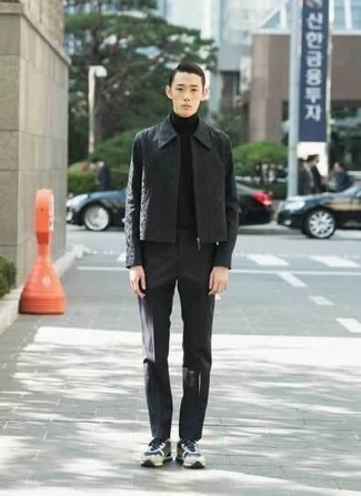 How To Wear Athletic Shoes With Dress Pants For Men: A charcoal harrington jacket and dress pants are among the basic elements of a good menswear collection. And if you wish to immediately dial down your outfit with footwear, why not introduce a pair of athletic shoes to the equation?