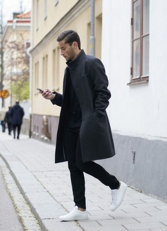 Long Sleeved Button Up Coat