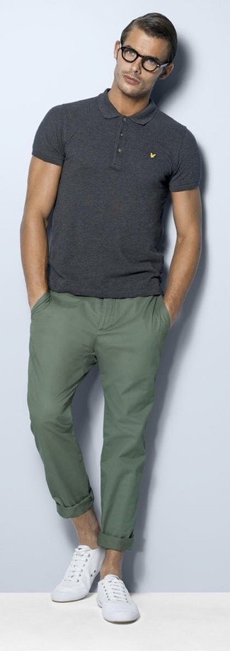 How To Wear Plimsolls With Dark Green Chinos Men 39 S Fashion