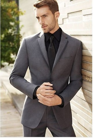 How To Wear a Grey Suit With a Black Dress Shirt | Men's Fashion