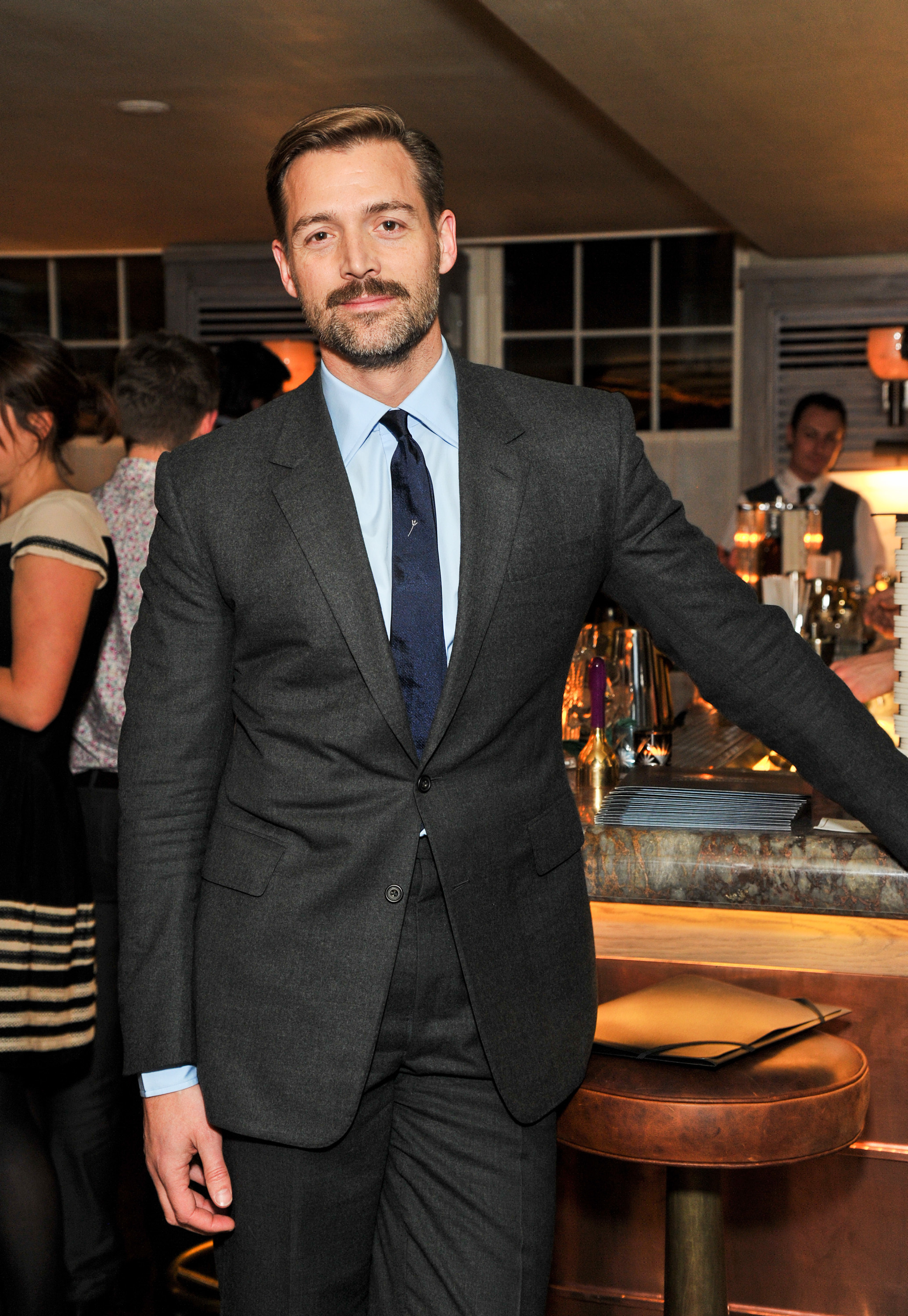 Patrick Grant wearing Charcoal Suit, Light Blue Dress Shirt, Navy ...