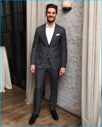 Charcoal Plaid Suit | Men's Fashion