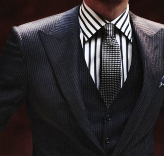 How To Wear A Black And White Polka Dot Tie With A Men 39 S
