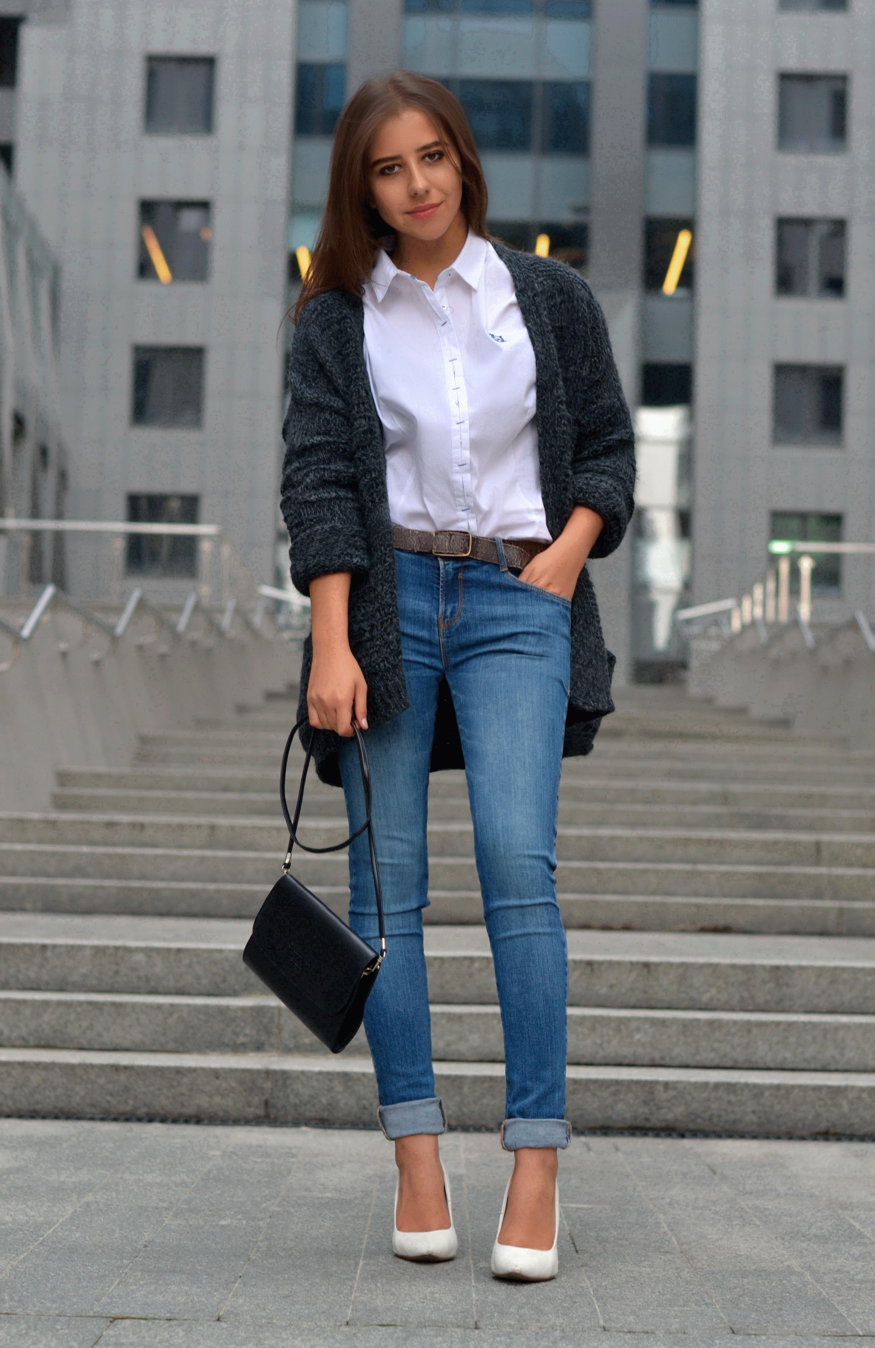 Clutch Skinny Jeans Pumps