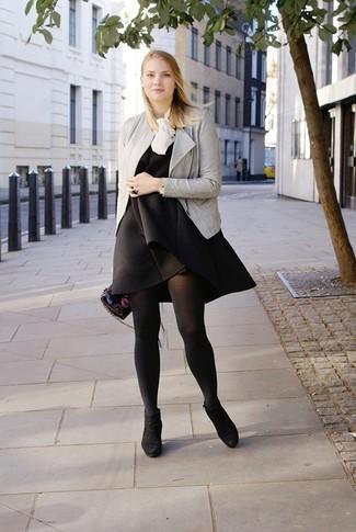 women 39 s black floral leather clutch white silk sleeveless. Black Bedroom Furniture Sets. Home Design Ideas