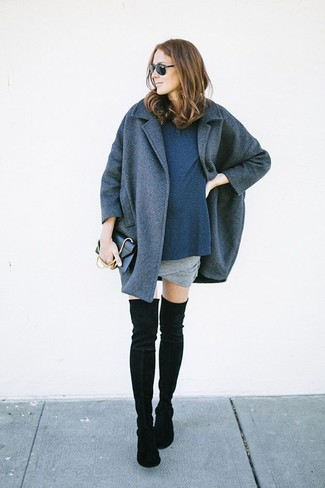 How to Wear Black Suede Over The Knee Boots (181 looks) | Women's ...