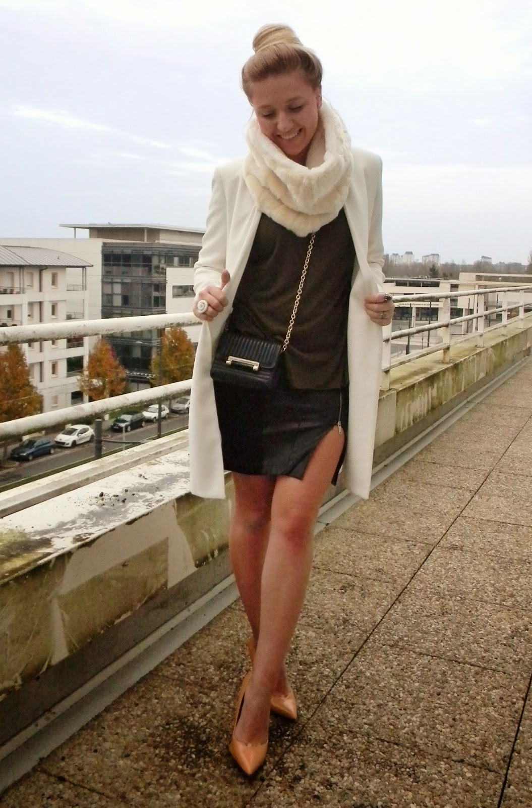 Dark Brown Crew-neck Sweater | Women's Fashion