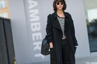 Split Sleeve Wool Blend Coat