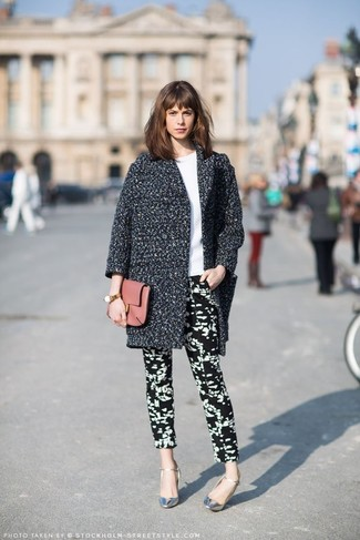 Black And White Print Skinny Pants Outfits 5 Ideas Outfits Lookastic
