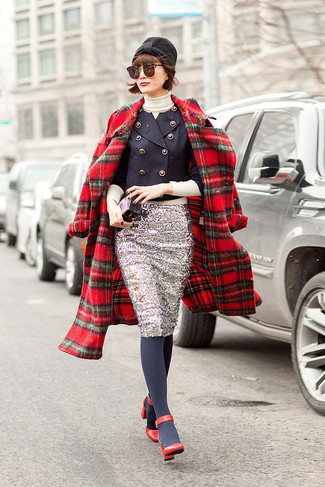 Braylie Flannel Collar Plaid Coat