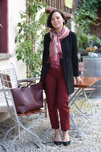Leather Trim Trouser