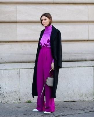 Isabella Skirted Wool Blend Coat