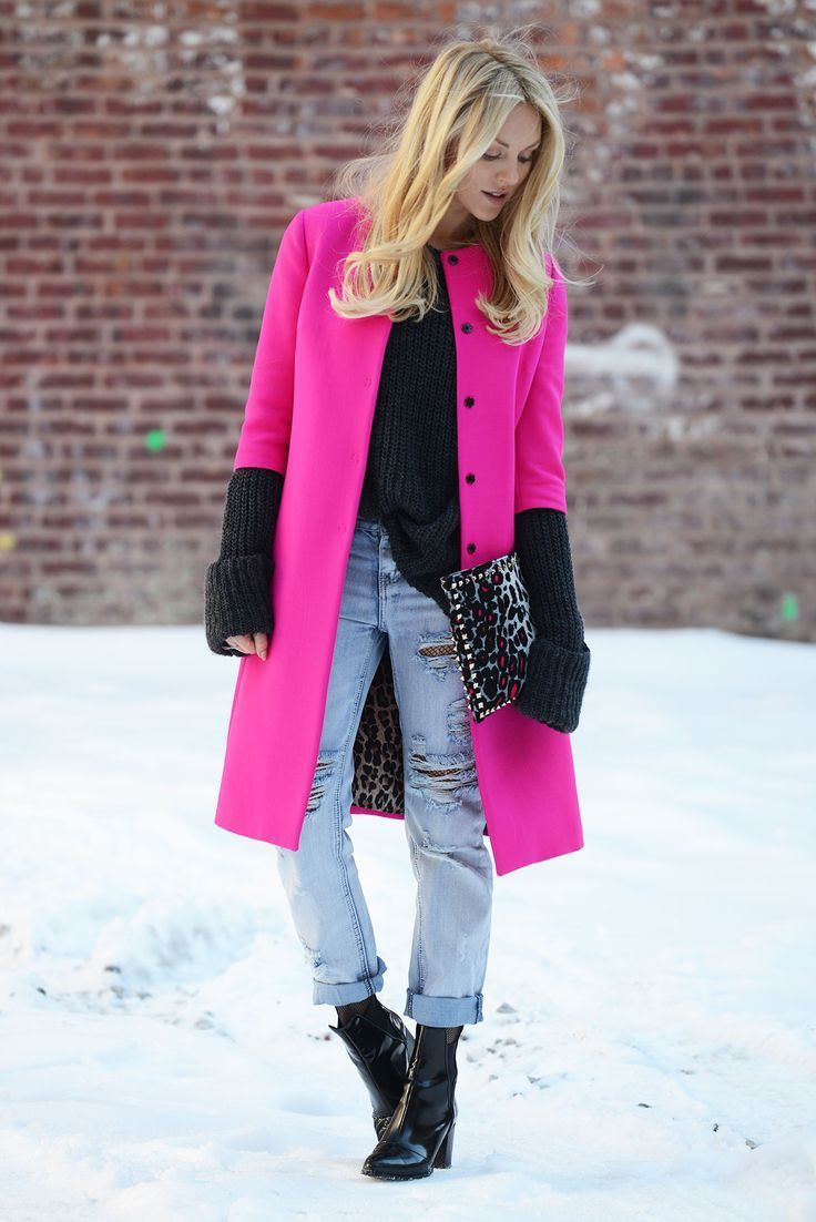 How to Wear a Hot Pink Coat (111 looks) | Women's Fashion