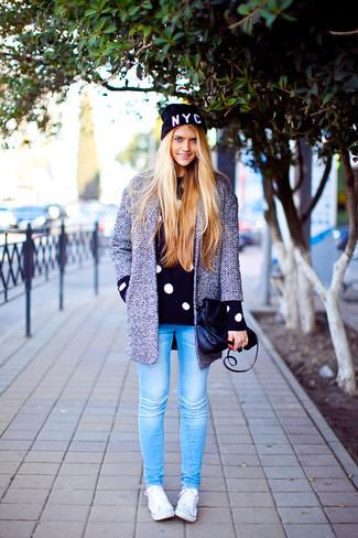 Hand Crocheted Leopard Acrylic Beanie Hat