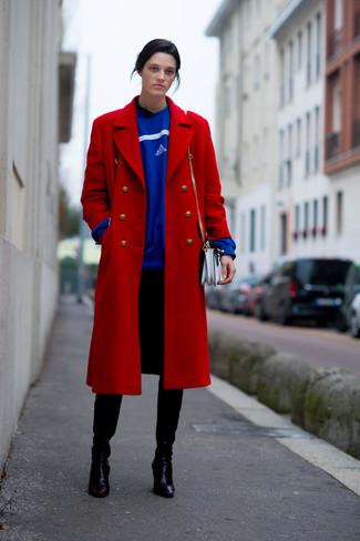 How to Wear a Blue Oversized Sweater (27 looks) | Women's Fashion