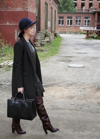 mid length belted coat