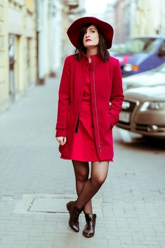 Which Coat To Wear With a Red Hat | Women's Fashion
