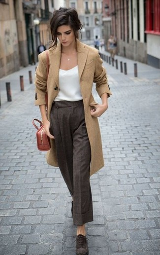 How to Wear Dark Brown Pants (67 looks) | Women's Fashion