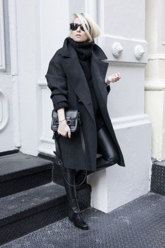 Zippered Double Wool Cashmere Coat