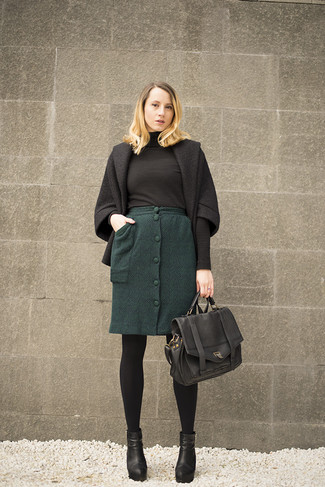 How to Wear a Dark Green Pencil Skirt (13 looks) | Women's Fashion