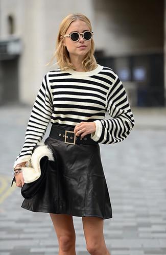 How to Wear a Black A-Line Skirt (10 looks)   Women's Fashion