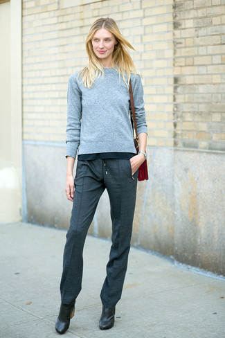 grey dress boots womens