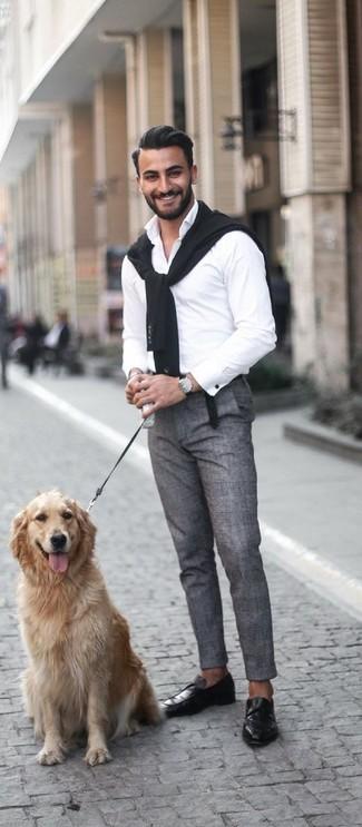 Ludlow Slim Suit Pant In Glen Plaid Italian Wool Linen