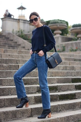 Color Block Mom Jeans