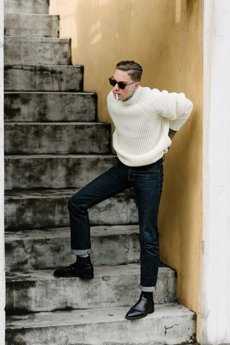 Navy Milford Straight Jeans