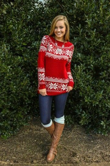 How to Wear a Burgundy Fair Isle Crew-neck Sweater (10 looks ...