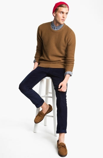 How to Wear a Brown Crew-neck Sweater (38 looks) | Men's Fashion