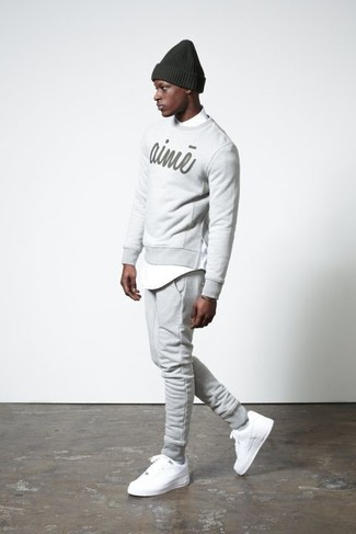 Grey Core Lounge Pants