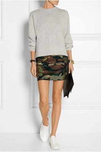 Olive Mini Skirt   Women's Fashion