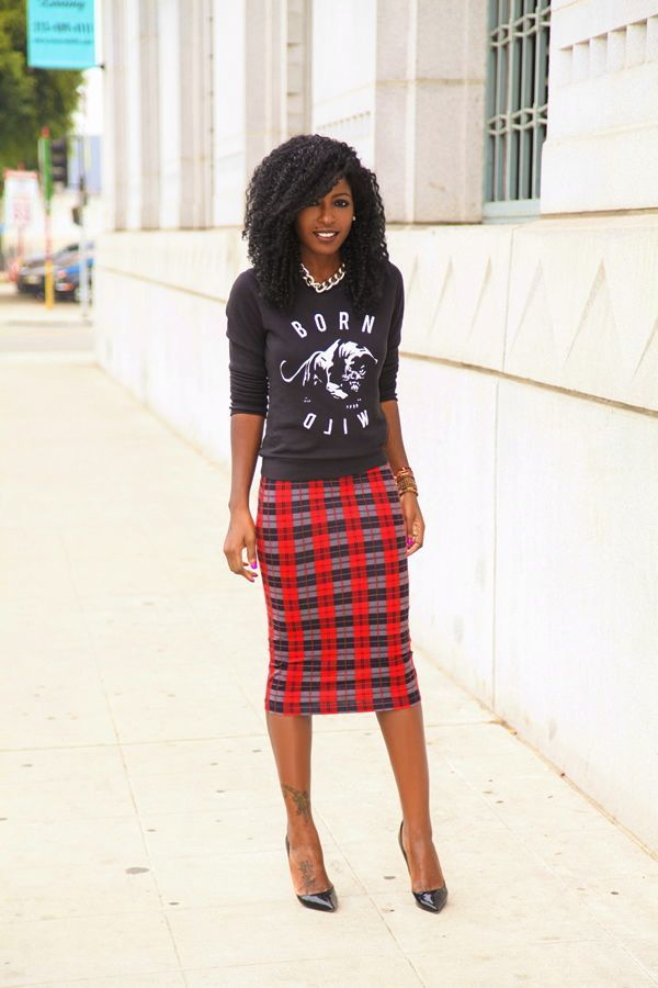 How to Wear a Red and Black Pencil Skirt (33 looks) | Women's Fashion