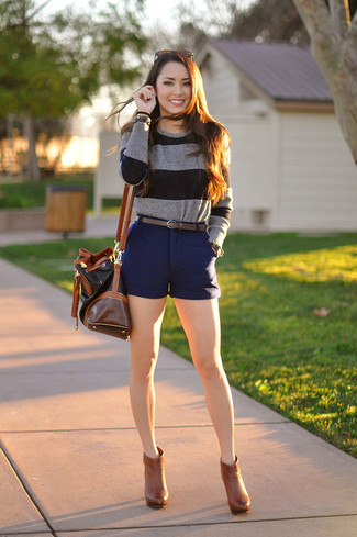 Rolled Up Hem Shorts