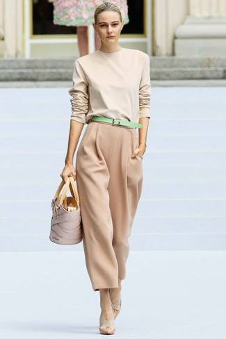 Tan Wide Leg Pants | Women's Fashion