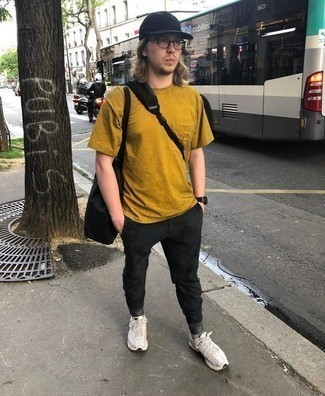 Mustard Crew Neck T Shirt Outfits For Men 147 Ideas Outfits Lookastic