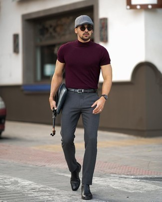 Dark Purple T Shirt Outfits For Men 53 Ideas Outfits Lookastic