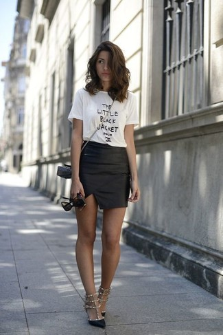 How to Wear a Black Leather Mini Skirt (145 looks) | Women's Fashion