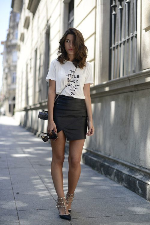 How to Wear a Black Leather Mini Skirt (139 looks) | Women's Fashion