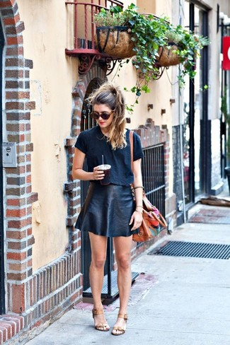 How to Wear a Black A-Line Skirt (10 looks) | Women's Fashion