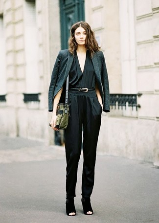 Dark Green Blazer | Women's Fashion