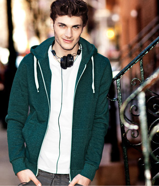011a2f5e187 How to Wear a Dark Green Hoodie For Men (21 looks & outfits) | Men's ...
