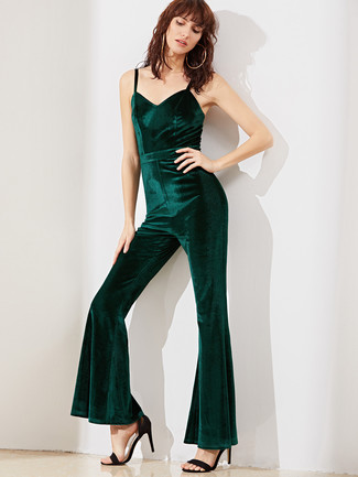 2c33e19ed4e1 How to Wear a Dark Green Jumpsuit (28 looks   outfits)
