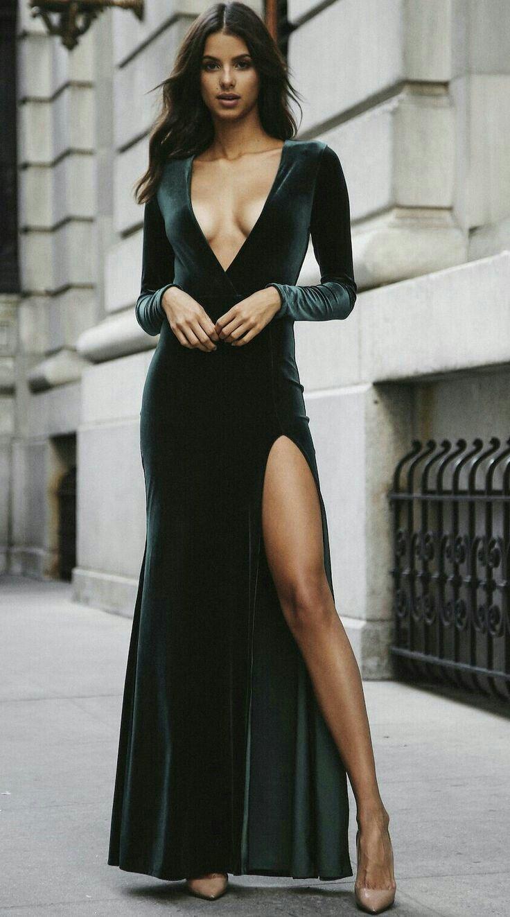 Dark Green Maxi Dress | Women\'s Fashion