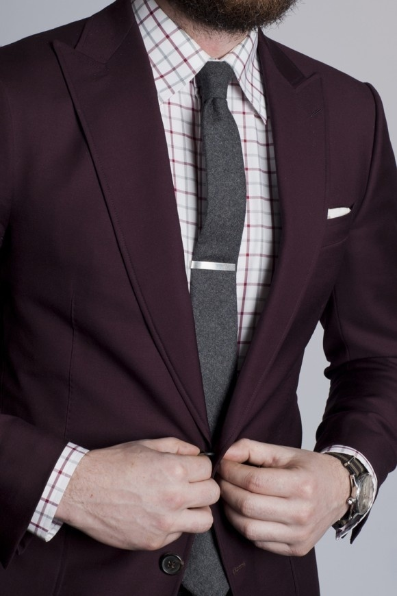 Dark Purple Blazer | Men's Fashion